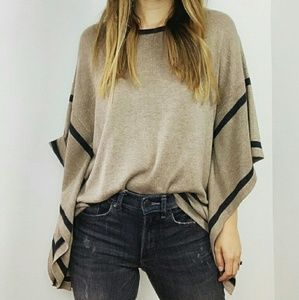 August Silk knit poncho style sweater